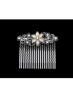 White Flower Middle Comb