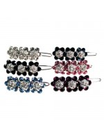 Crystal Three Flower Barrette