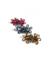 Beaded Double Flower Barrette