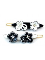 Barrette with a Butterfly and Flower