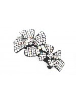 Large and Small Flower Hair Clip with Rhinestones