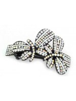 Hair Clip with Two Rhinestoned Butterflies