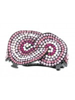 Hair Clip with Interlocking Circles with Rhinestones