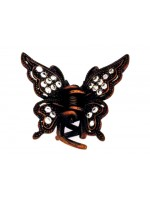 Rhinestoned Top and Bottom Wing Hair Claw