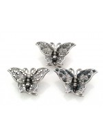 Hair Claw with Scattered Rhinestones Butterfly