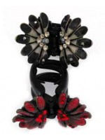 Hair Claw with a Flower Design on Top