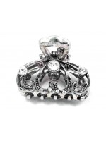 Claw with Large Swirls and Rhinestone Design