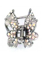 Butterfly Winged Claw with Small and Large Rhinestones