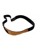 Leather Horse Hair Headband with Cow Print