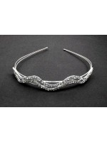 Curving Rhinestone Rows Headband