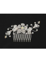 Comb with Floral Design and Curved Branches
