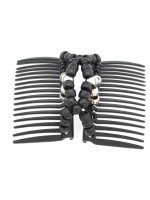 Elastic Middle Double Comb with Large Beads