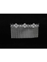 Flowers and Diamond Shapes Comb