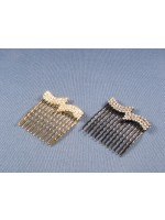 Double Waved Rhinestone Comb