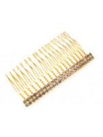 Twenty-Three Rhinestone Gold Comb