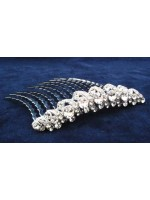 Swirled Edge Comb with Rhinestones