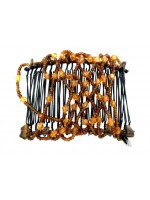 Small and Diamond Shaped Beads Double Comb