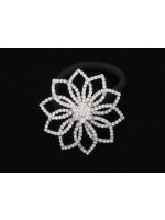 Rhinestone Snowflake Ponytail Holder