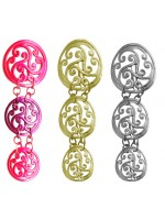 Triple Circle Spiral Ponytail Holder