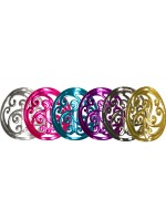 Circle with Swirl Design Ponytail holder