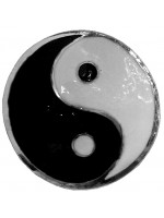 Ying and Yang Ponytail Holder