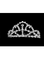 Tiara with Six Arcs with a Center Rhinestone