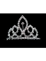 Tiara with Narrow Circles and an Oval Center with a Rhinestone
