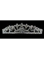 Tiara with a Rhinestoned Swirl Pattern with a Rhinestone Base