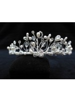 Silk Wrapped Tiara with Wire Floral Designs