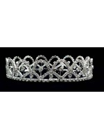 Fully Circled Tiara with Rhinestoned Centered Arcs
