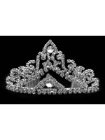 Tiara with Triangles with Crystal Centers and Rhinestoned Abstract Patterns