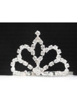 Tiara with Four Side Curves and Teardrop Middle