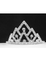 Tiara with Triangle Shapes each with a Crystal Center