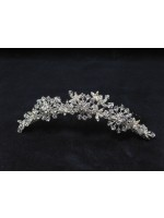 Crystal and Bead Tiara with Vines and Floral Designs