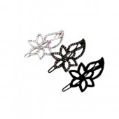 Hollow Flower and Leaf Barrette