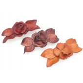 Large Rose and Side Petaled Hair Clip
