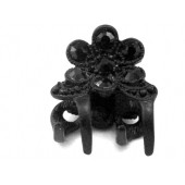 Claw with Large Black Stone Flower