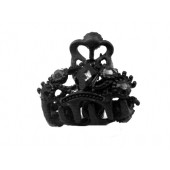 Claw with a Large Black Rhinestone Middle and Smaller Stones