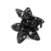 Hair Claw with Two Rhinestone Petals