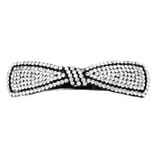 Rhinestoned Bow Hair Clip